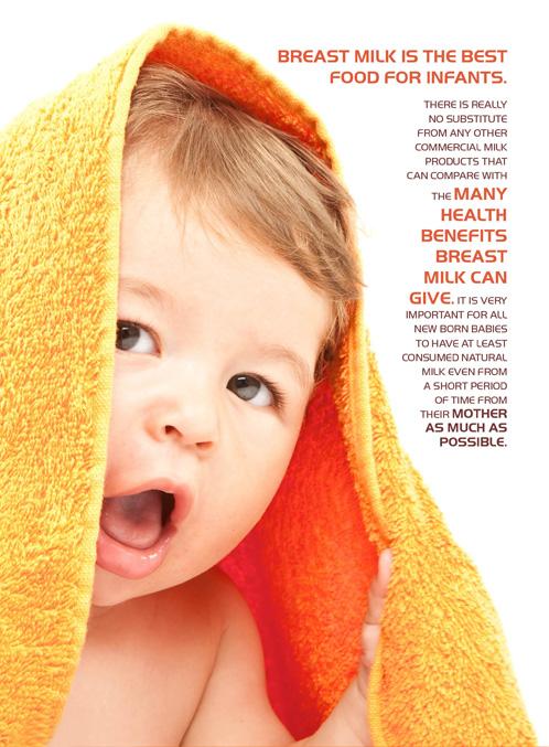 Benefit of male breast milk
