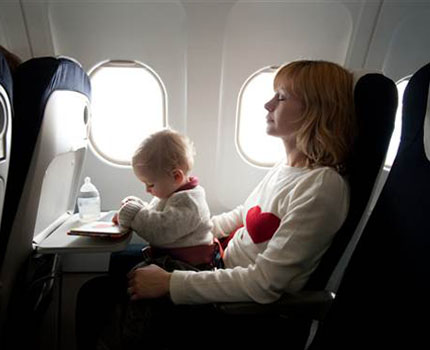 Is air travel safe for an infant?