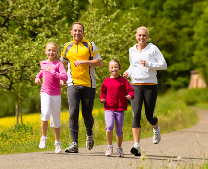 10 Secrets to a  Fit Family