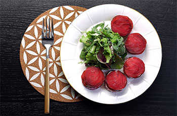 Recipes – Beetroot Napoleon with Honey Drizzled Goats Cheese  (gluten free, refined sugar free, veggie)