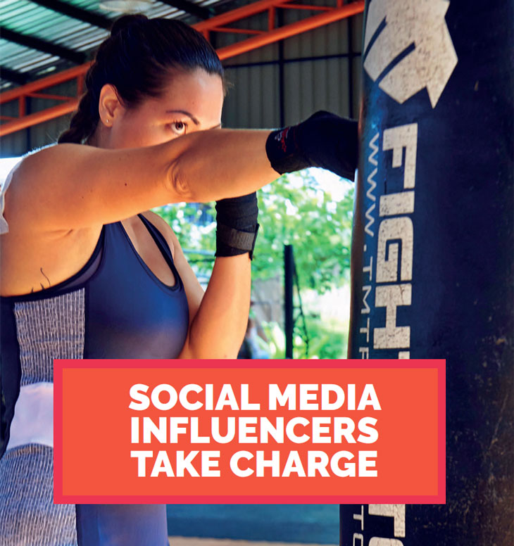 SOCIAL MEDIA INFLUENCERS TAKE CHARGE