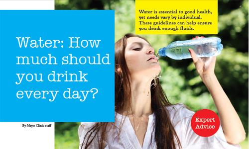 Water: How much should you drink every day