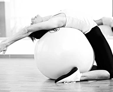 Yoga with ball