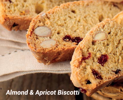 Recipe – Almond and Apricot Biscotti