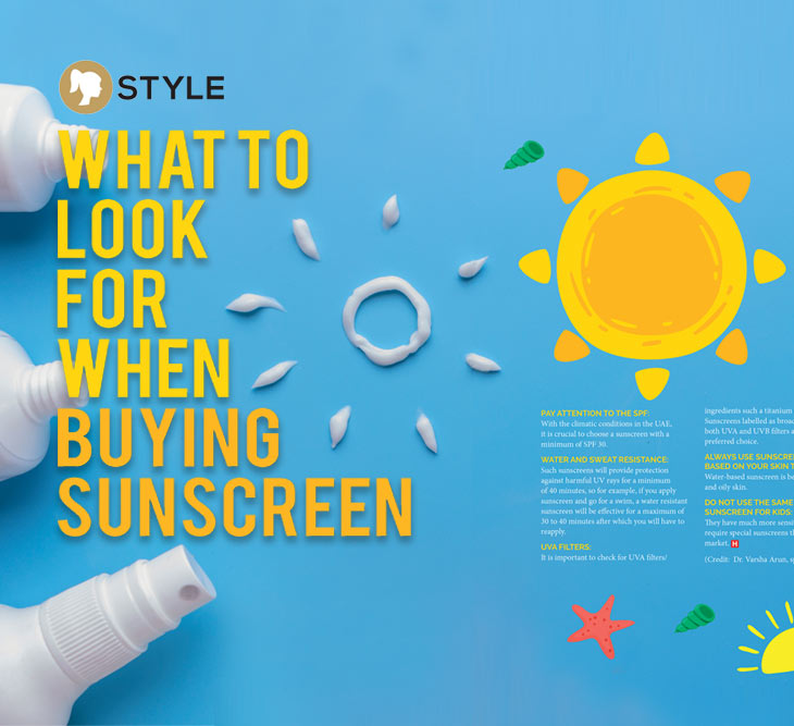 What to look for when buying sunscreen