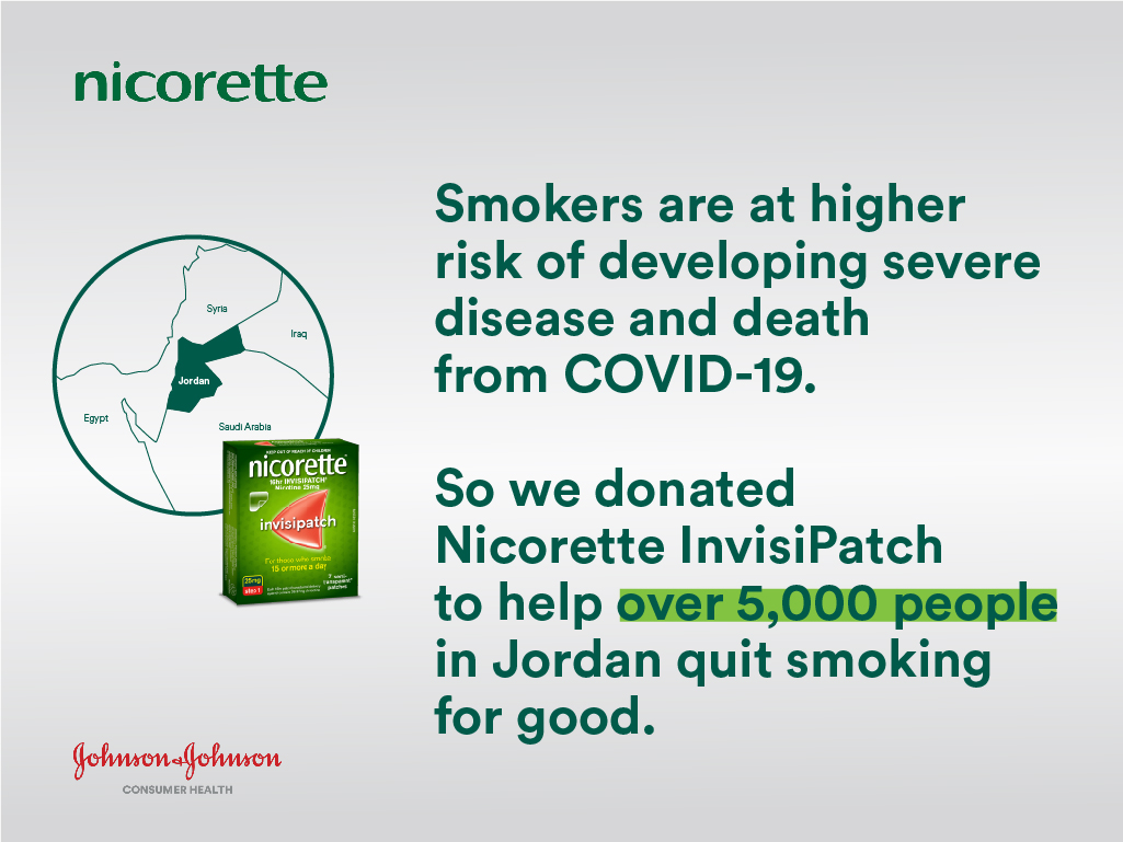 Johnson & Johnson Consumer Health Donates NICORETTE® to cover over 5,000 people to the World Health Organization During COVID-19
