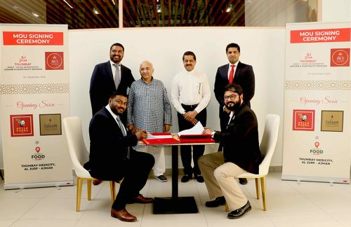 Thumbay Hospitality Division of Thumbay Group Join Hands with Ilas Mantraa Group to expand Hospitality Division operations and open new outlets at Thumbay Food Court – Thumbay Medicity